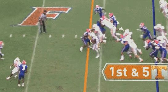 Tennessee vs. Florida: Vols RB gets penalty for taunting gator chomp - SBNation.comclockmenumore-arrownoyesHorizontal - WhiteHorizontal - WhiteHorizontal - WhiteHorizontal - WhiteHorizontal - Colbalt : The right call? Yeah. Dumb? Also yeah.