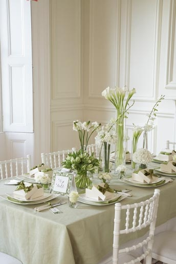 Love the centerpiece but would use a different tablecloth.