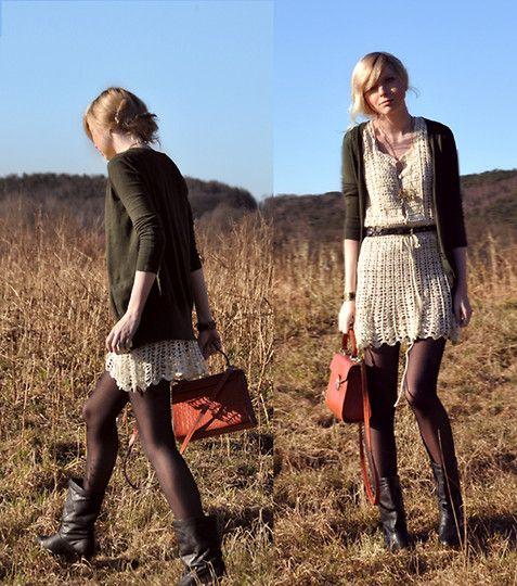 crochet dress: Fashion, Knit Dress, Crochet Dresses, Crochet Dress Haven T, Vintage Bag, Fields