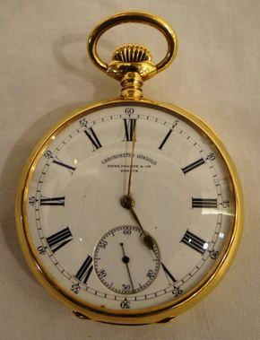 ab69384252d Magnifico relógio de bolso Patek Philippe em ouro