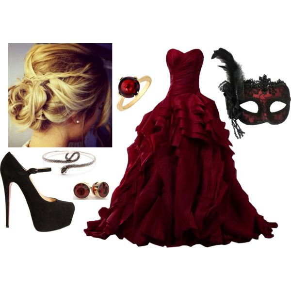 A fashion look from October 2014 featuring quinceanera gowns, masquerade halloween costumes and christian louboutin pumps. Browse and shop related looks.