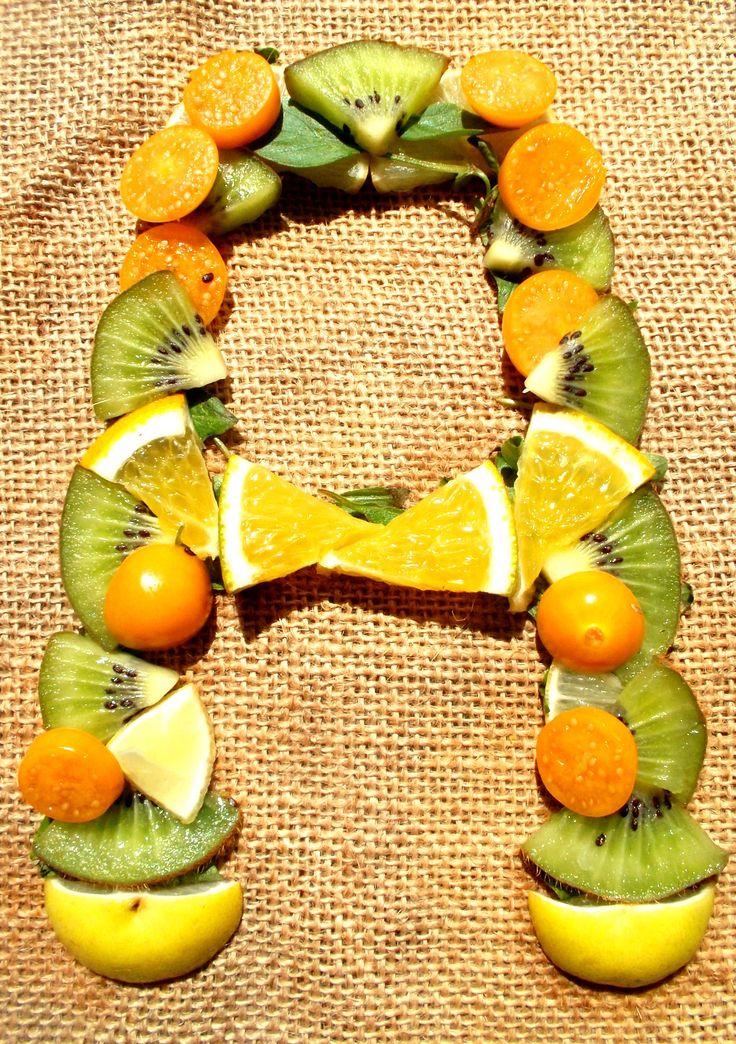 letra a tipografia de citricos