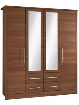 Consort Liberty 4 door wardrobe £399 ready assembled