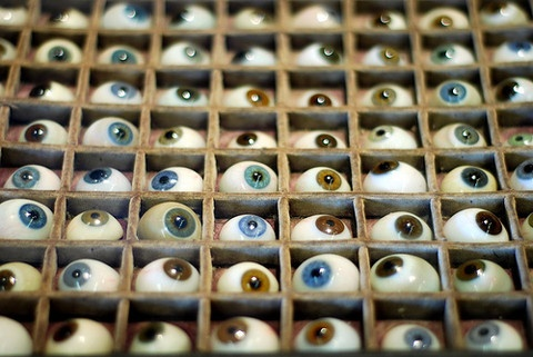Monsieur Faurie's glass eye collection: In an antique shop off the plaza in Taos. Monseiur Faurie has the most fascinating - and disturbing - collection of antique medical equipment.