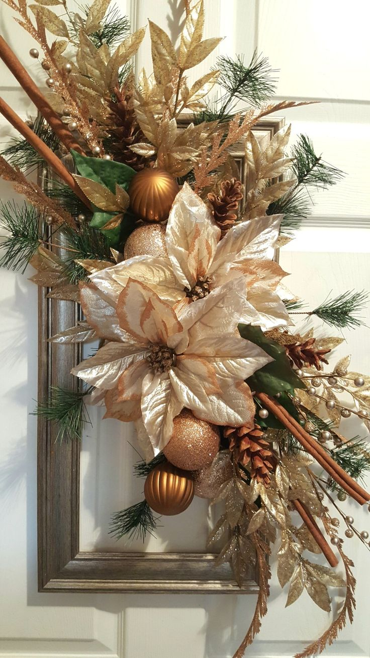 Holiday crafting fun with a picture frame wreath. by