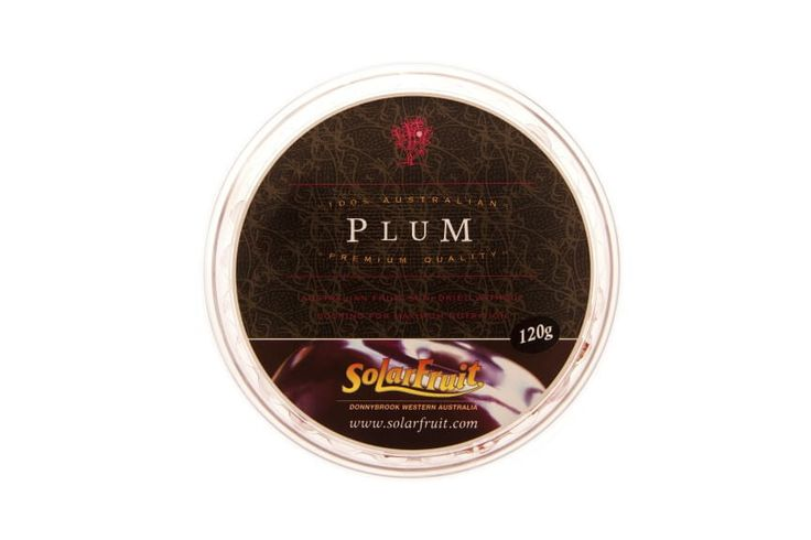 Platter Pieces - Plum.........Platter Pieces are bite sized squares of Solarfruit presented in a round, resealable container. Each pack contains the equivalent of 1 kg of fresh fruit.  These make the perfect addition to a cheese or fruit platter.  Also a handy travelling pack which is easy to share. Flavour - Plum