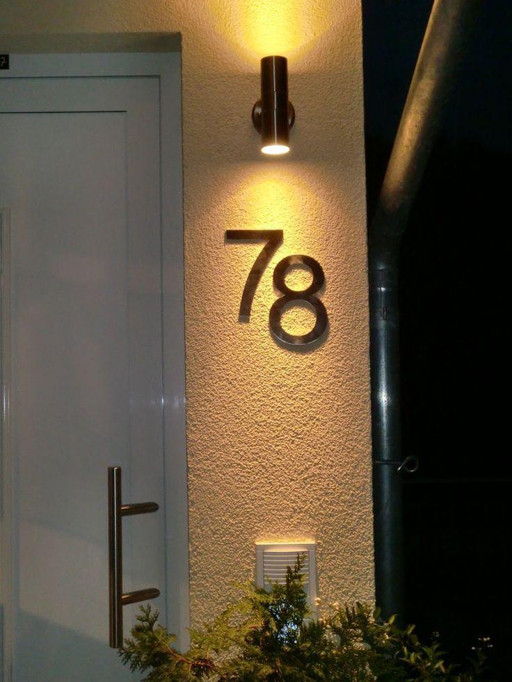 Hausnummer Edelstahl 200mm Schrifttyp Arial Metall massive Ausführung in Heimwerker, Eisenwaren, Hausnummern   eBay