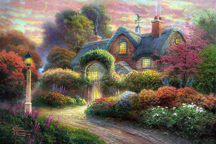 Rosebud Cottage ~ Thomas Kinkade