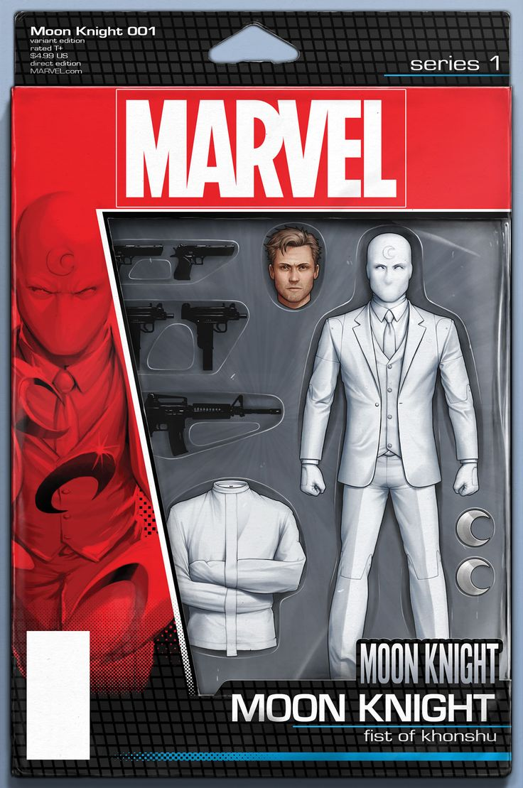 Action Figure Variant cover to Moon Knight #1 (2016), art by John Tyler Christopher