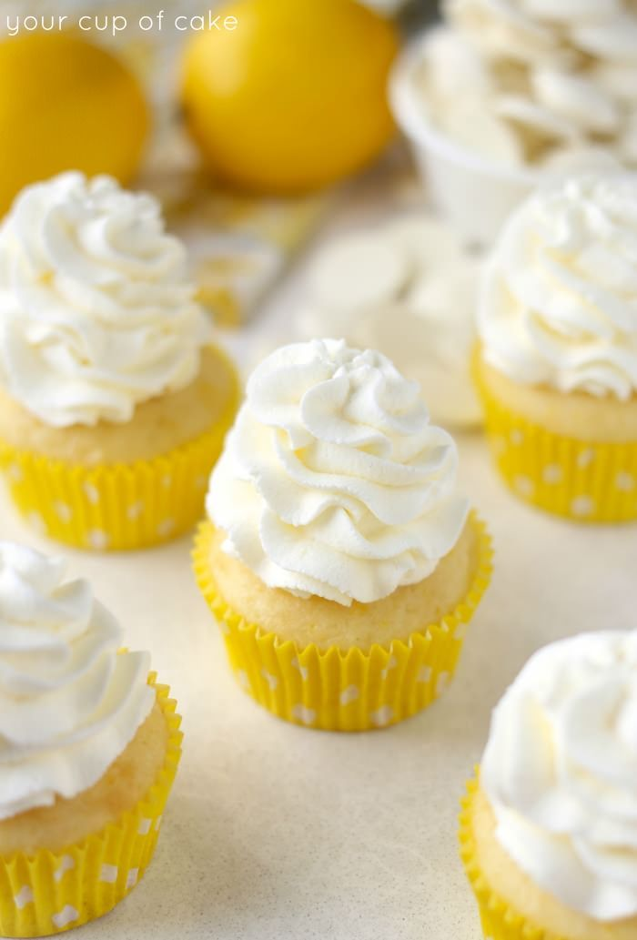 Lemon White Chocolate Cupcakes - Your Cup of Cake