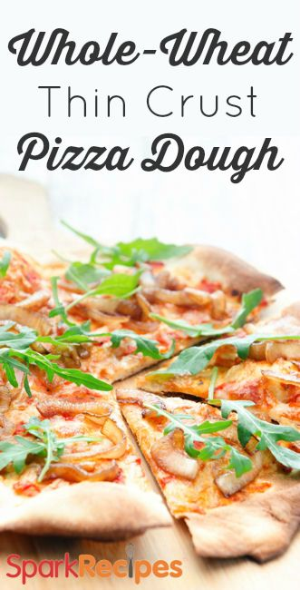 A healthy pizza crust you can feel good about eating! | via @SparkPeople #food #recipe #homemade