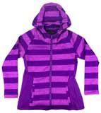 Striped Purple Hooded Sweatshirt - Price: $32.45 at The Purple Store