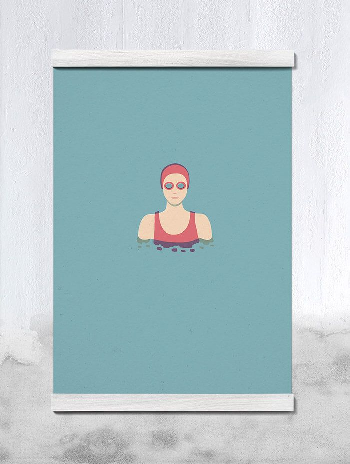 The Swimmer 02 Our Contribution to the Paper Collective Collection for Menu (Dk). The Paper Collective for MENU collection is a joint project with the Danish design company MENU in support of Charity Water. (www.charitywater.org).