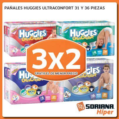 Para el cuidado de tu bebé, pañales Huggies, aprovecha hasta el 20 de Enero en SORIANA HUATULCO