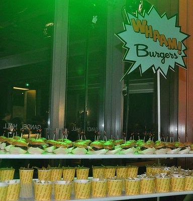 Whaam Burgers at the Roy Lichtenstein Pop Remix party. Photo: Lyn Mills - Canberra Times #art #lichtenstein #party #popart