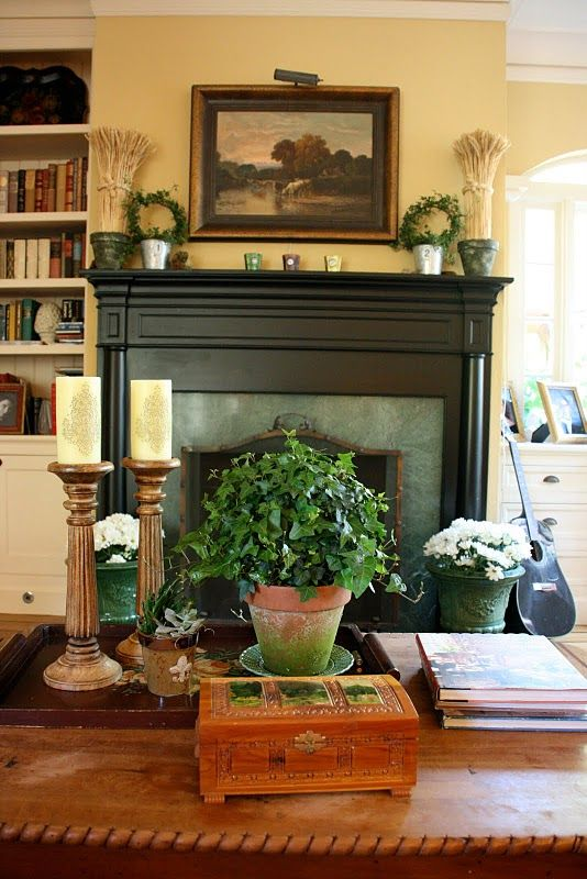 17 best images about vignettes on pinterest early spring spring and rustic gardens - Fireplace mantel designs in simple and sophisticated style ...