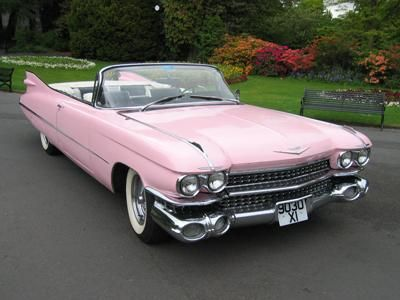 »✿❤CRS❤✿« 1959 Cadillac Convertible, Pink Cadillac as used by Clint Eastwood, Grease and of course Elvis!