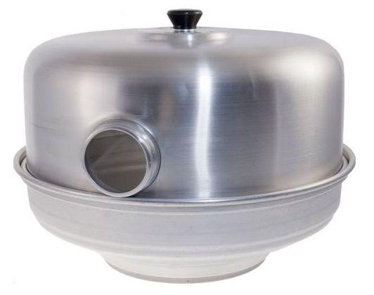 Fornetto Estense, cos'è, come si monta, come si usa. Pentola fornetto per cucinare sul gas come in forno con un notevole risparmio di energia.