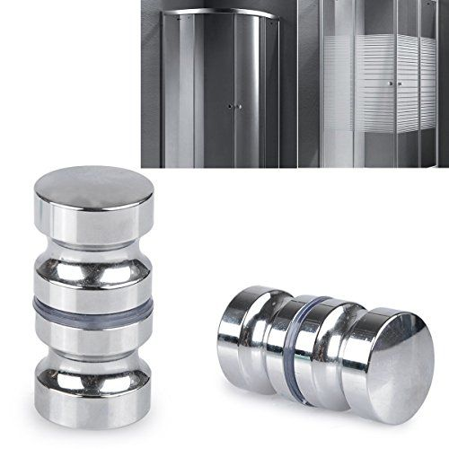 From 7.69 Shizak 2 Pack Stainless Steel Shower Screen Round Back-to-back Door Handle Door Knob Replacement Polished Chrome
