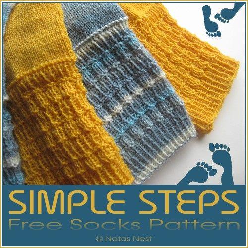 Hallo Ihr Lieben, hier ist ein neues Sockenmuster für Euch! Der Name ist Programm: Simple Schritte. Einfach, anfängertauglich, gut beim F...