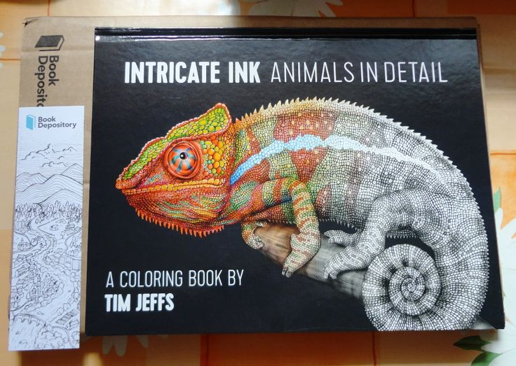 Tim Jeffs - Intricate Ink Animals in Detail a Coloring Book volume 1