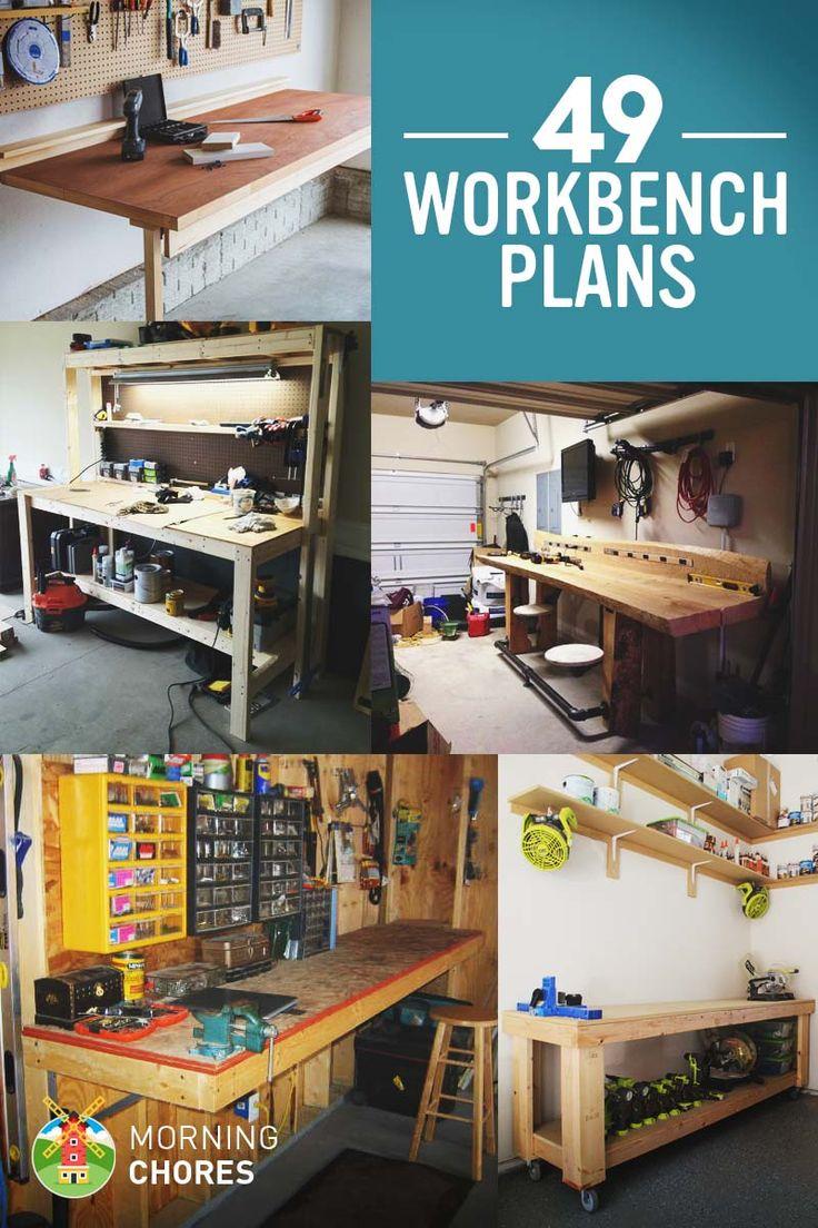 49 Mesa de trabajo de libre DIY planes e ideas para reactivar su viaje de la carpintería