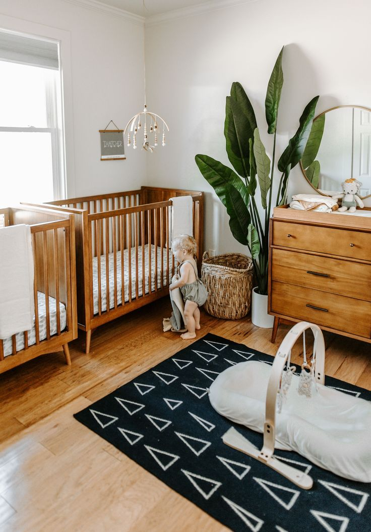 West Elm X Pbk Mid Century Convertible Crib Pottery Barn Kids Baby Room Design Baby Room Decor Nursery Baby Room