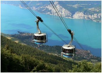 Took the cable car from Malcesine to the top of Monte Baldo for a spectacular view over Lake Garda