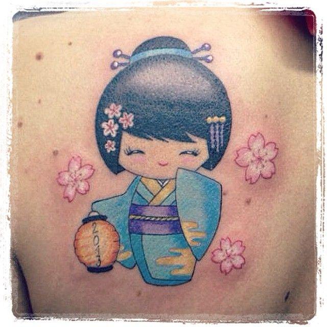 #kokeshi #kokeshitattoo #tattoo #il #ricordo #indelebile #di #un #bellissimo #viaggio #in #giappone #solomia
