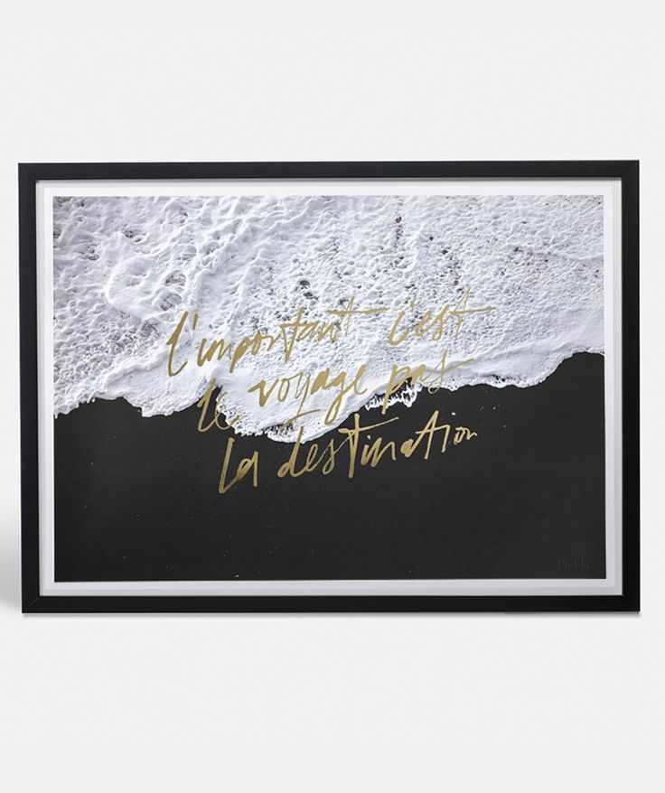 Sometimes it's the journey that's the most important part. Lift your spirits and minds with this inspiring gold foil typographic print. Perfect for shared living rooms or study areas. | .huntingforgeorge.com