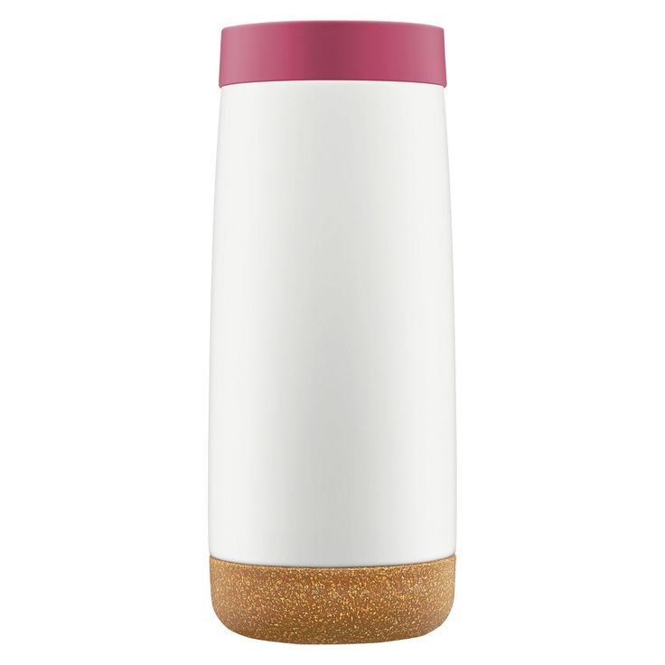 Ello Cole 16oz Stainless Steel Insulated Travel Mug - Raspberry