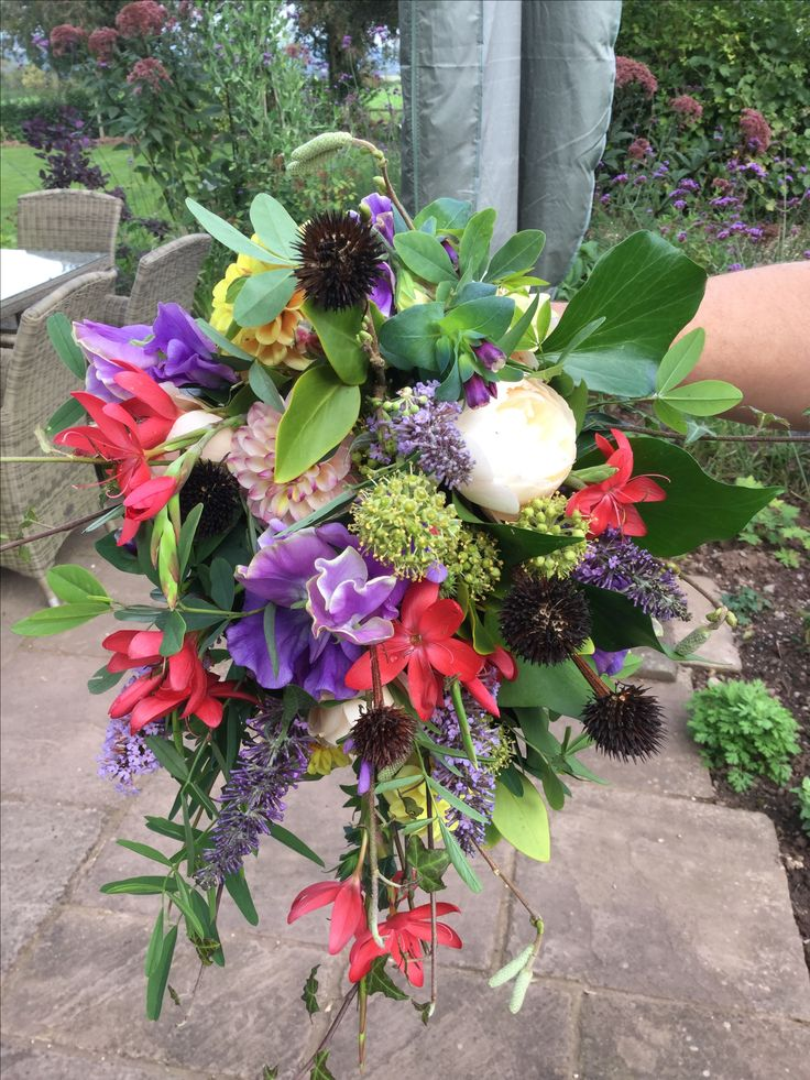 British flowers #Homegrown #All fresh from our cottage garden # wedding shower Bouquet #David Austin roses # Kaffir lily #sweet scented sweet peas #Seed heads #Beautifully scented. All enquiries email:- vick@bloominglovelyflowersandplants.co.uk