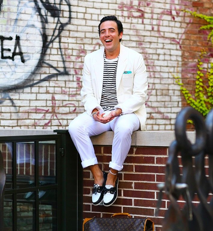 Stylist J. Logan Horne looking dapper in StyleCaster's Most Stylish New Yorkers — Photo by Phil Oh