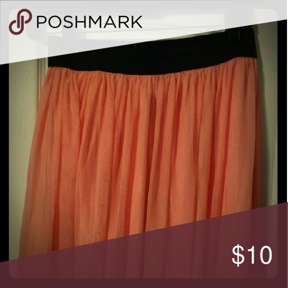 Skirt Peach sheer skirt Skirts Circle & Skater