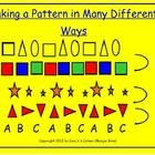Making Patterns in Different Ways:  This Smart Notebook resource was created to help Grade 1 and 2 students understand that there are many different kinds of patterns, as well as how to change one type of pattern (ie. ABB color pattern) into another pattern (ie. ABB size pattern, etc.).  $
