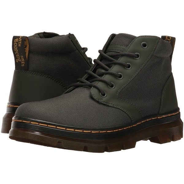 Dr. Martens Bonny Chukka Boot (Olive/Extra Tough Nylon/Rubbery) Men's... ($50) ❤ liked on Polyvore featuring men's fashion, men's shoes, men's boots, dr martens mens boots and dr martens mens shoes