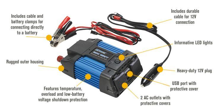 Best inverter for led street lights Features for NPower Portable Inverter — 200 Watts
