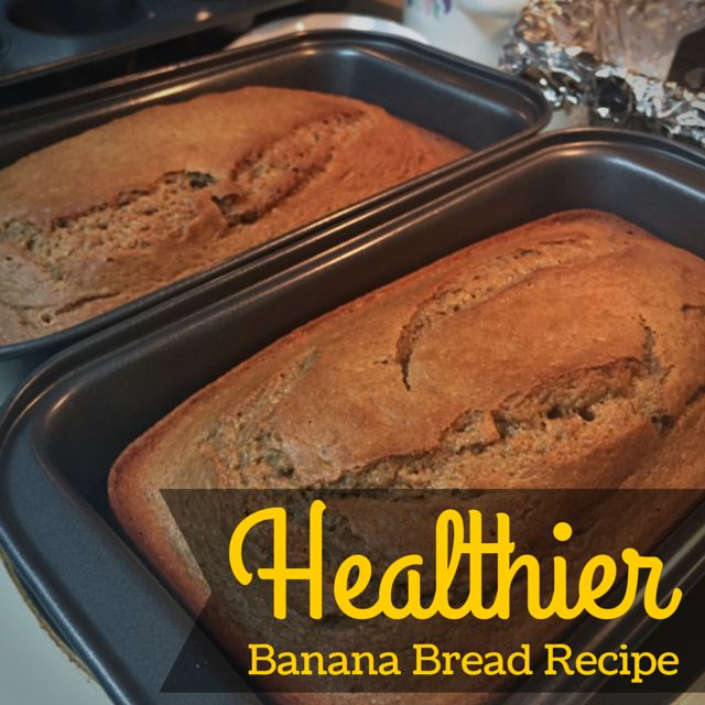 This delicious banana bread recipe is healthier because plain yogurt is used to substitute some of the oil you would need on a traditional banana bread recipe. The bread is moist, full of flavor, and perfect as a snack or as part of your breakfast.