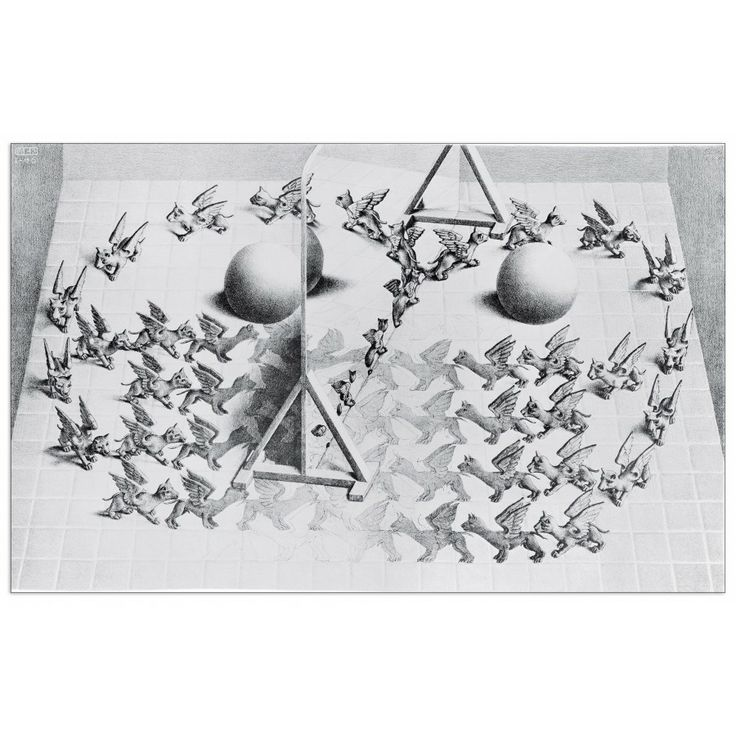 Escher - Magic mirrow 55x35 cm #artprints #interior #design #Escher Scopri Descrizione e Prezzo http://www.artopweb.com/autori/escher/EC21507