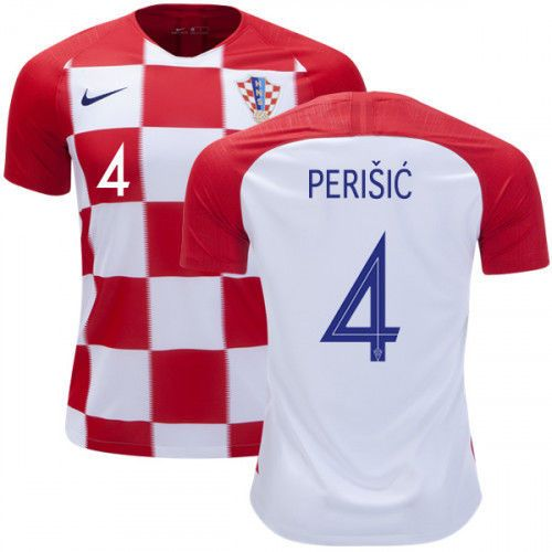 2c5f054af NIKE IVAN PERISIC  4 CROATIA HRVATSKA 2018 FIFA WORLD CUP HOME JERSEY  PATCHES Discount Price 179.99 Free Shipping Buy it Now