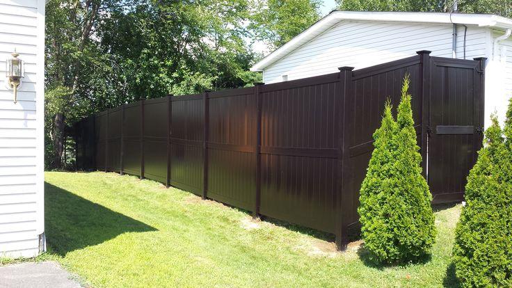 Brown Modern Style Vinyl Fence Pvc Eco No Maintenance