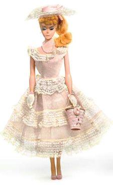 Vintage Barbie Ponytail Doll wearing Plantation Belle