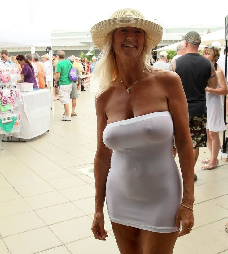 Mature Wife Wearing See Thru Clothes In Public -