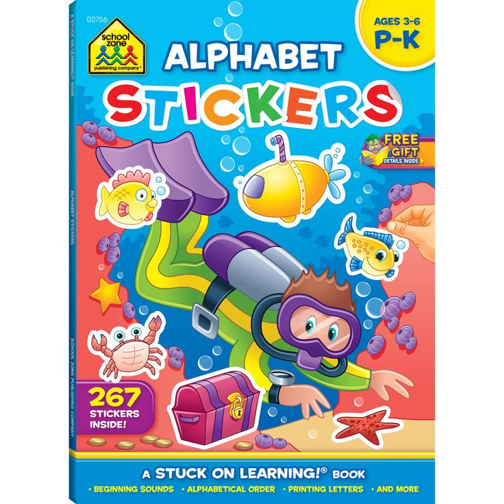 Alphabet Stickers Workbook introduces your child to the alphabet and beginning phonics through playful activities and over 250 stickers.