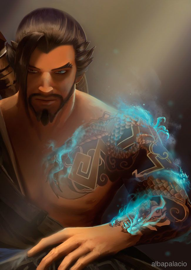 Hanzo , Alba Palacio on ArtStation at https://www.artstation.com/artwork/2O56Y