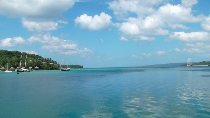 A nice day in paradise - Port Vila harbour January 2013