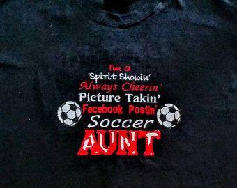 Check out Soccer Aunt - Proud Aunt - Soccer Fan - Soccer Shirt - Soccer Sayings - Soccer Aunt Gift - Game Day Shirt - Spirit Shirt - Aunt Life on fabuellaboutique