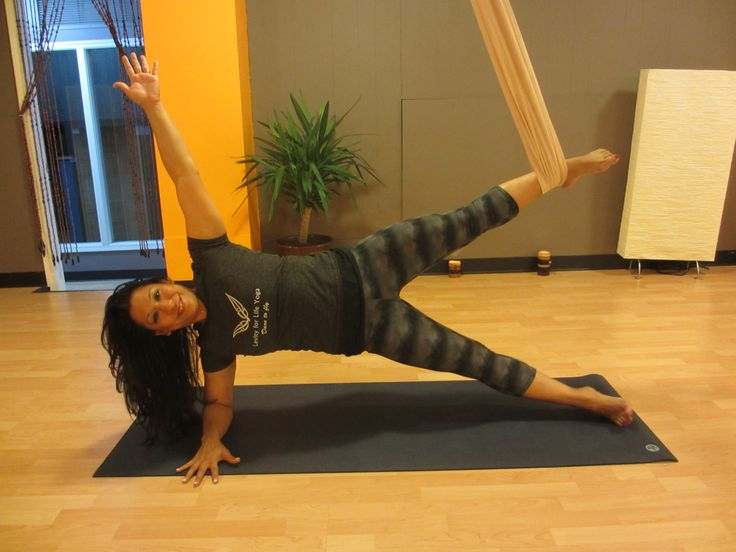 Aerial yoga helps build core and upper body strength!