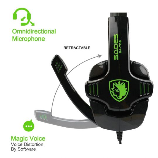 Today Deals 40% OFF Sades - SA708 Stereo Gaming Headset - Xbox One (compatible w/ Xbox One controller w/ 3.5mm headset jack) and PS4 | Amazon:   Today Deals 40% OFF Sades - SA708 Stereo Gaming Headset - Xbox One (compatible w/ Xbox One controller w/ 3.5mm headset jack) and PS4 | Amazon #TodayDeals #DailyDeals #DealoftheDay -   SUPERIOR SOUND: High precision 40mm magnetic neodymium driver bring you vivid sound field sound clarity sound shock feeling. COMFORT FIRST: Over-ear ear cups fitted…