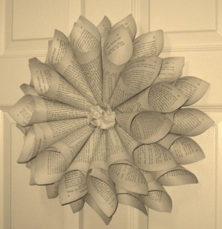 28 best books images on pinterest craft altered book art and thrifty decorating old book wreath craft club idea recycled material flower with a cardboard base instead of the wire one they use mightylinksfo